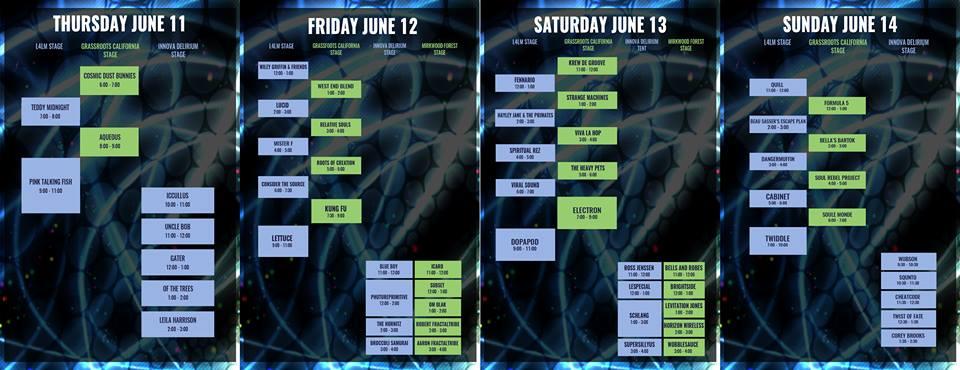 disc jam schedule