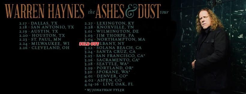 Warren Haynes Tour Setlists