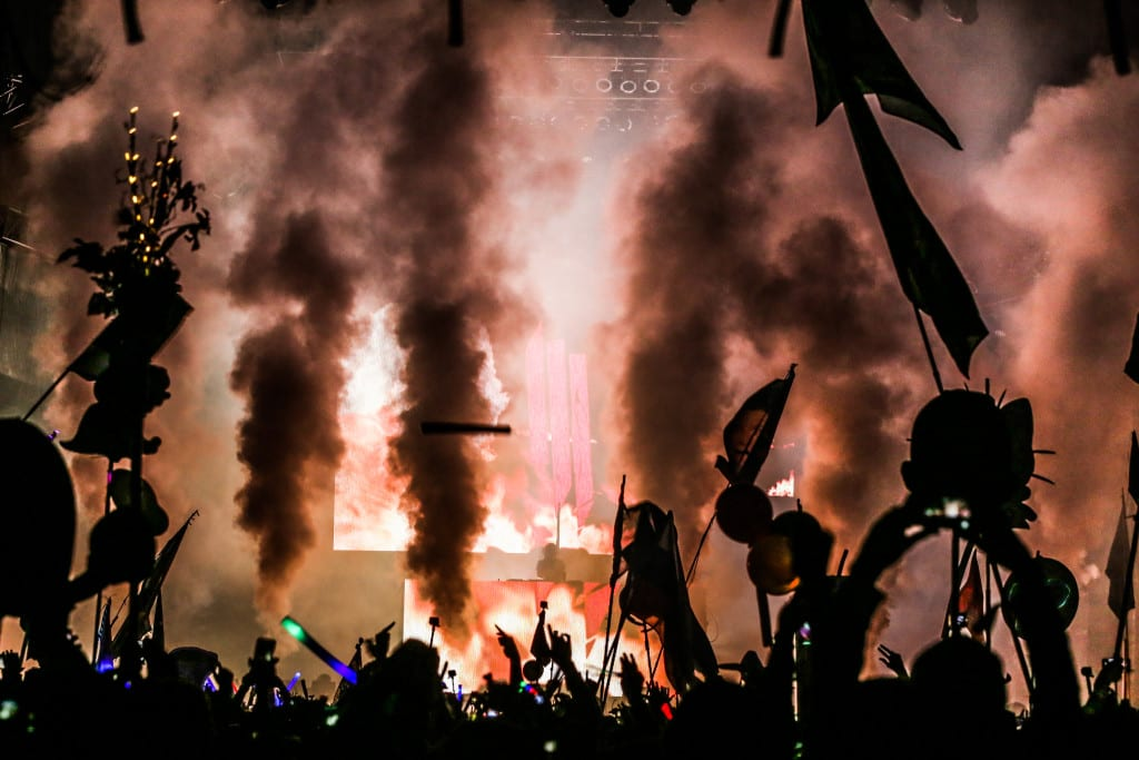 Skrillex had everyone on fire at the Okeechobee Music and Arts Festival! Brian Hensley // Brian Hensley Photography/MusicFestNews