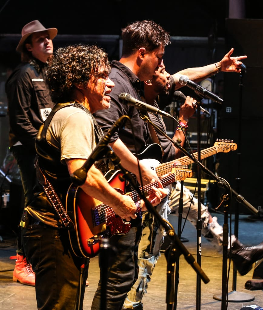 John Oates, Marcus Mumford, Miguel and Win Butler perform at the PoWow. Photo: Brian Hensley // Brian Hensley Photography/MusicFestNews