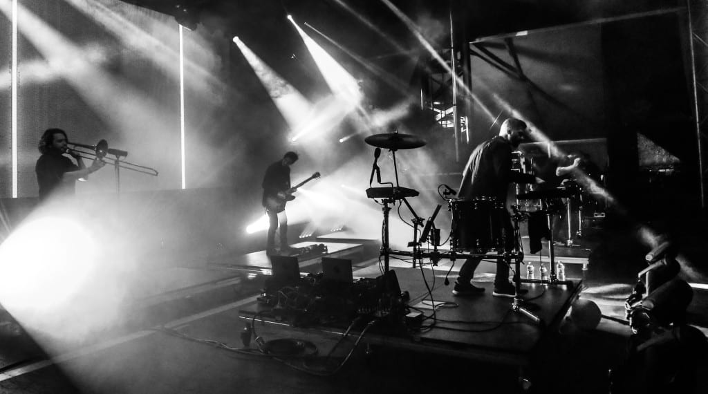 We were treated to an ODESZA performance with a full band backing them. Photo: Brian Hensley // Brian Hensley Photography/MusicFestNews