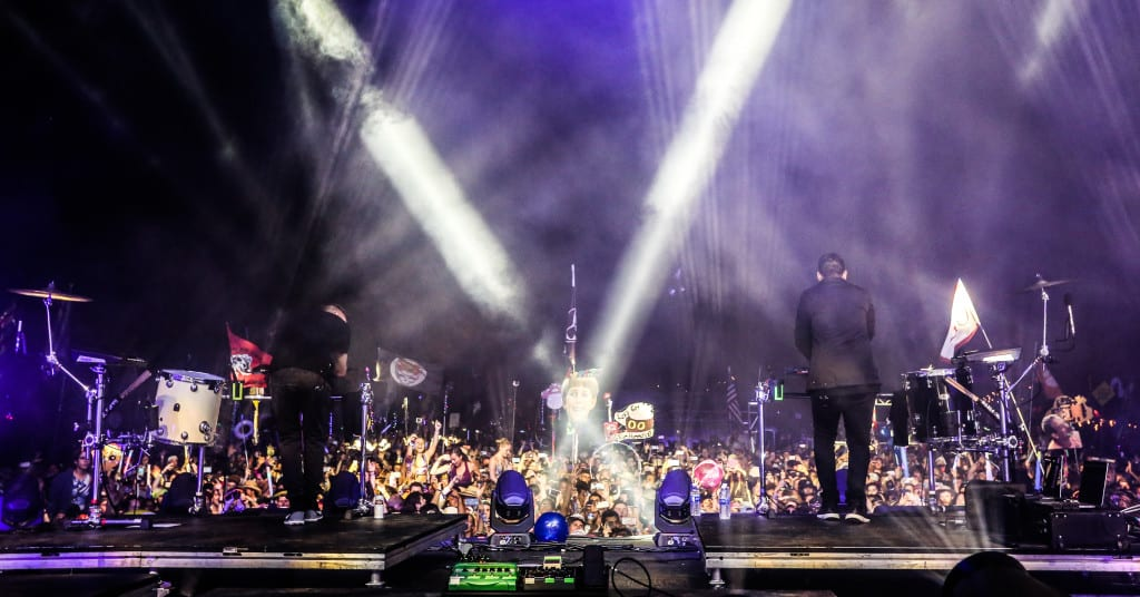ODESZA's set couldn't have been any more intense. Photo: Brian Hensley // Brian Hensley Photography/MusicFestNews