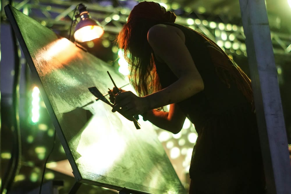 Live painters in Chobeewobee Village. Photo: Amanda Nulph // MusicFestNews