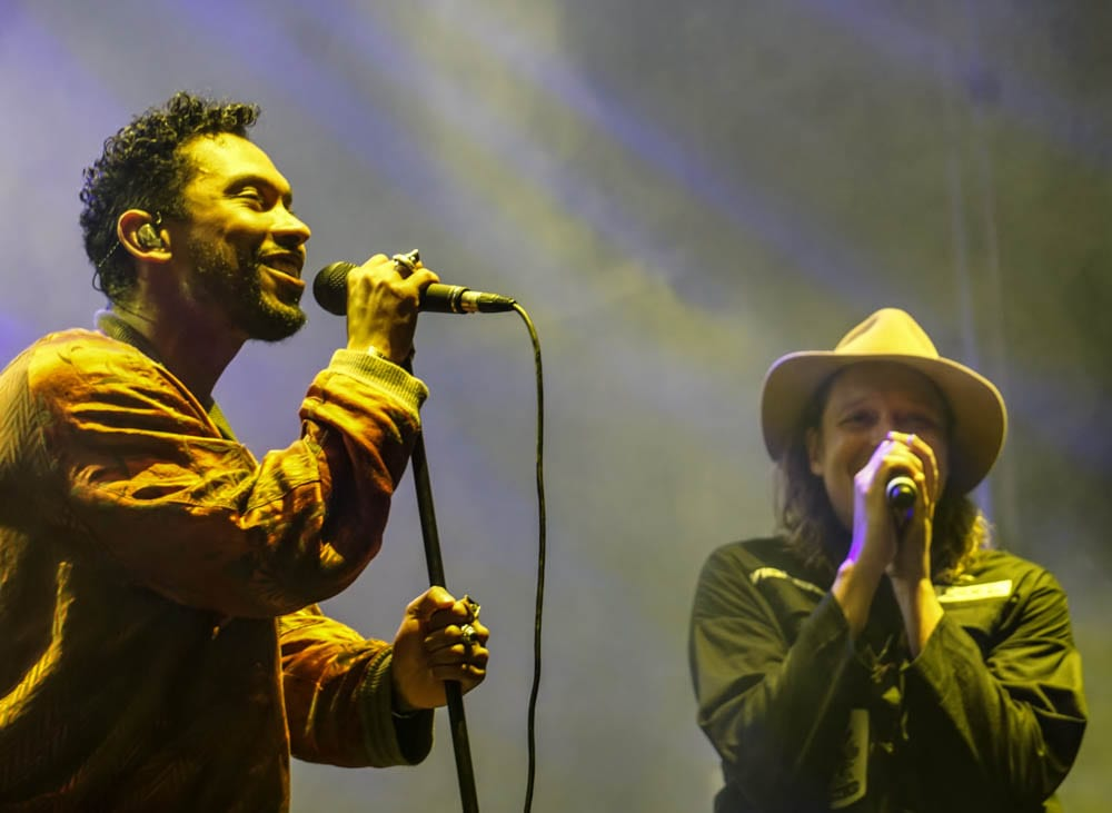 Miguel and Win Butler at the PoWow. Photo: Amanda Nulph // MusicFestNews