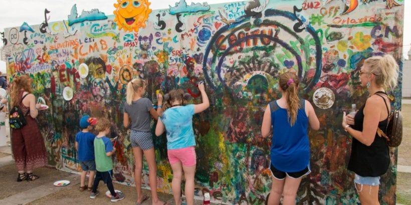 Gasparilla Music Fest 2017 Art Wall Installation
