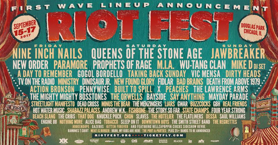 Nine Inch Nails, Paramore among Riot Fest 2017 massive line-up