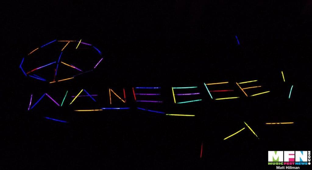 Wanee 2017 Wanee spelled out in glow sticks