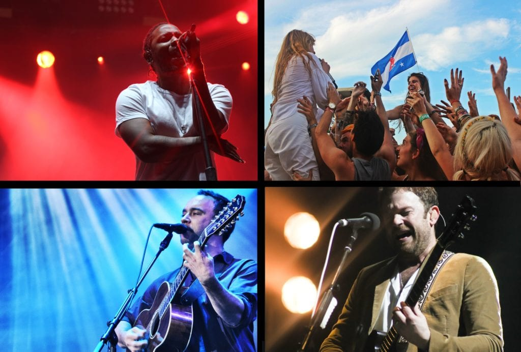 Kendrick Lamar, Florence and the Machine, Dave Matthews Band & Kings of Leon - Photos by Yvonne Gougelet