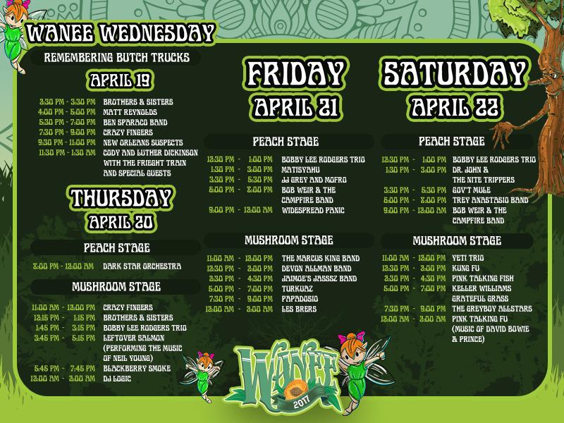 WANEEEEEEEEEE! The Schedule is Here, and It is Glorious