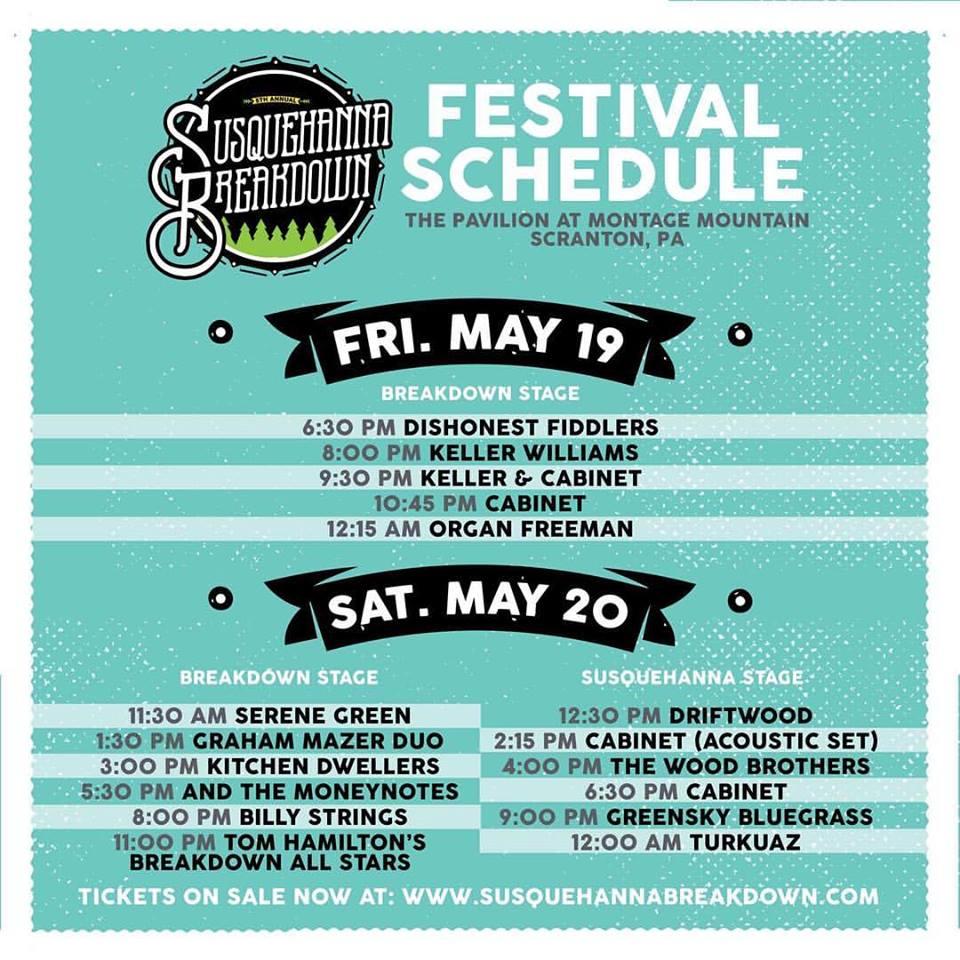 Susquehanna Breakdown Announces VIP Sets & Daily Schedules ...