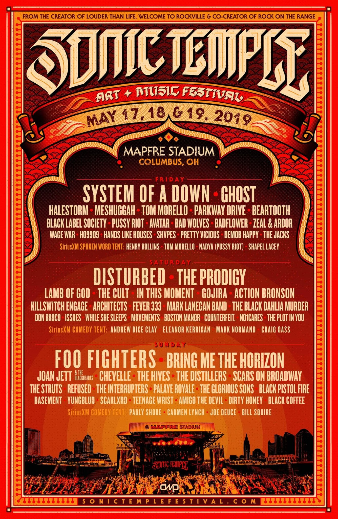 Rock On The Range 2019 Schedule Sonic Temple: Day Schedules • MUSICFESTNEWS